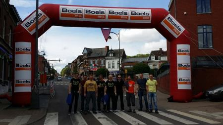 Day of the Pro's with us under the 1km banner on the Côte de stain Nicolas